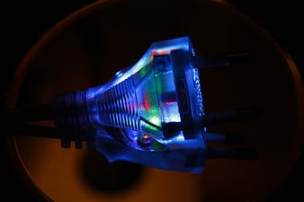 Blue lighted electric device