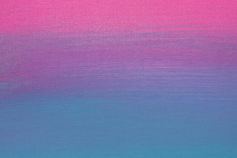 Pink and teal ombre abstract painting