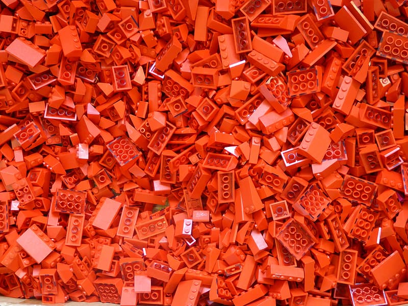 Red LEGO block toy lot