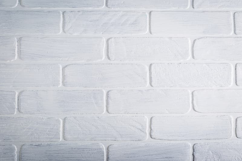 White brick wall in close-up photography