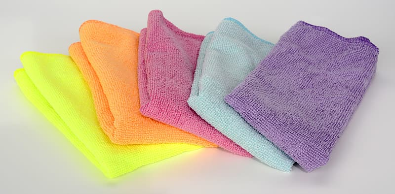 Blue and yellow bath towels