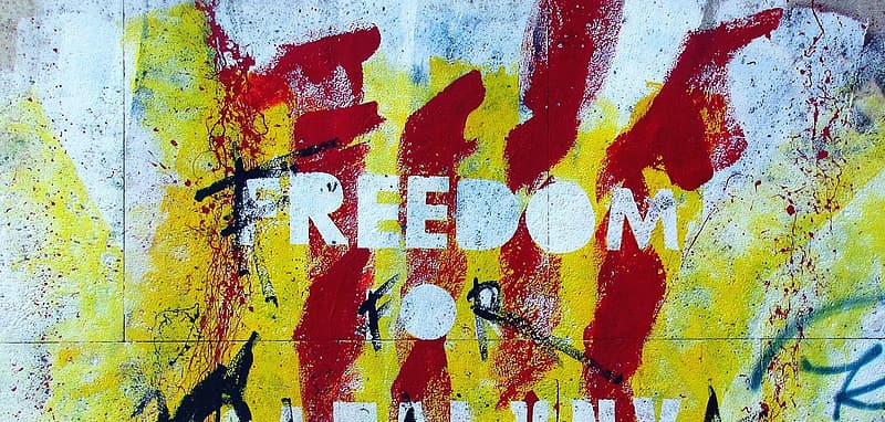 Freedom painted wall