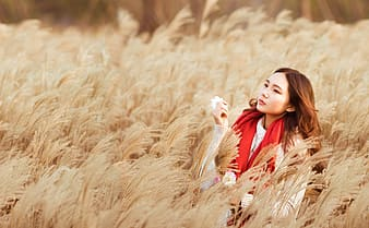 Woman in field during daytime