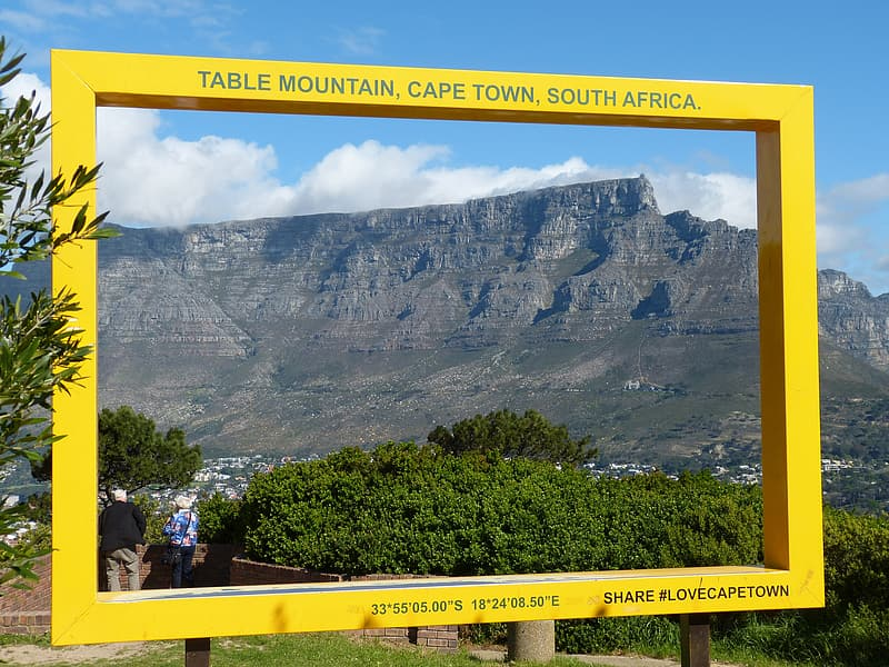 Table mountain, cape town, south africa signage