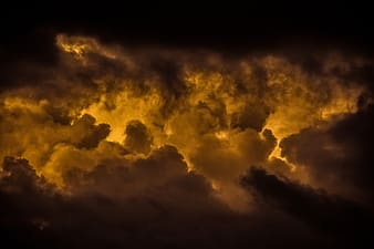 Yellow and black clouds