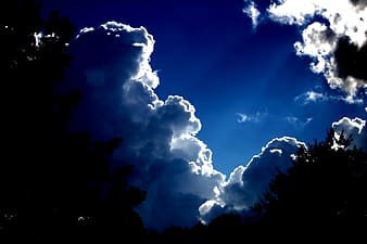 Clouds with sunlight