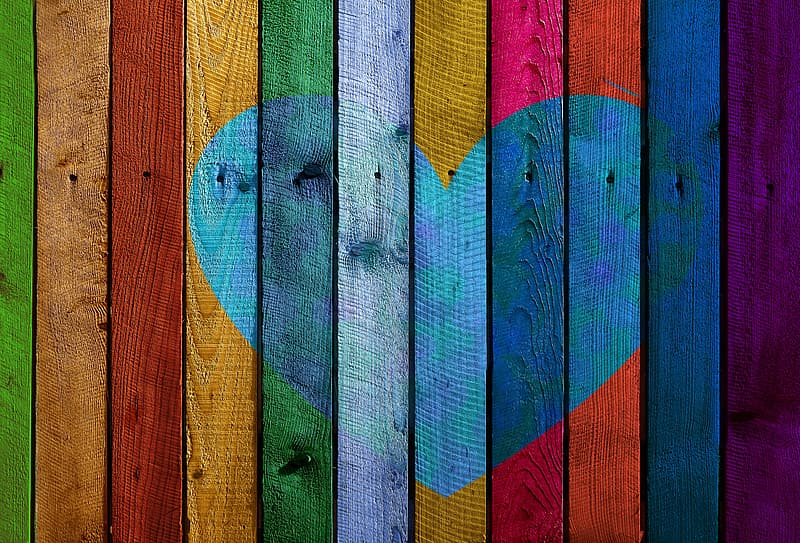 Multicolored wood plank