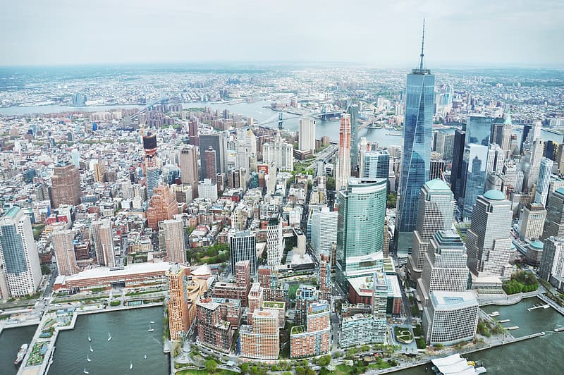 Aerial photography of Freedom Tower, New York