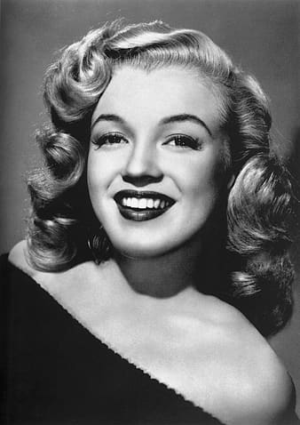 Black and white photo of Marilyn Monroe