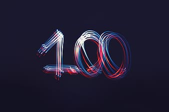 Black background with 100 number overlay