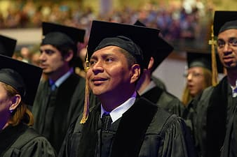 Man in black academic gown