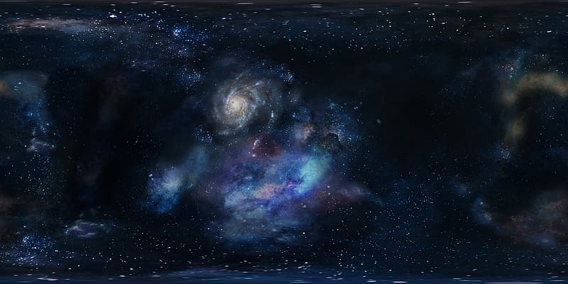 Purple, teal, and white galaxy
