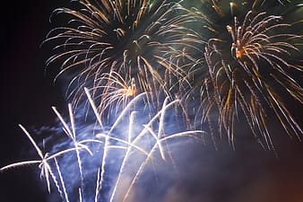 Low-angle view of fireworks