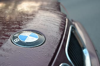Red and silver bmw car