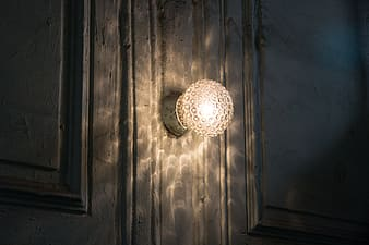 Photography of white sconce