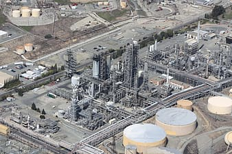 Aerial photography of power plant