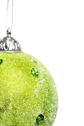 Silver and green christmas bauble
