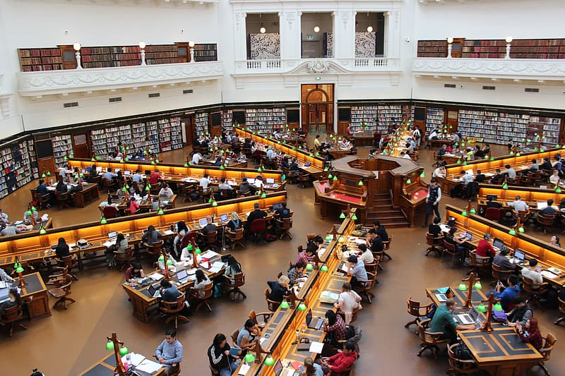 Aerial photography of library