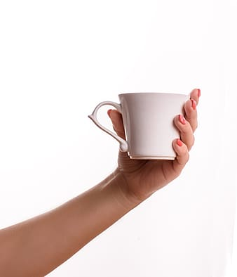 Person holding teacup