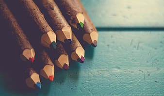 Close up photography of assorted-color pencil lot