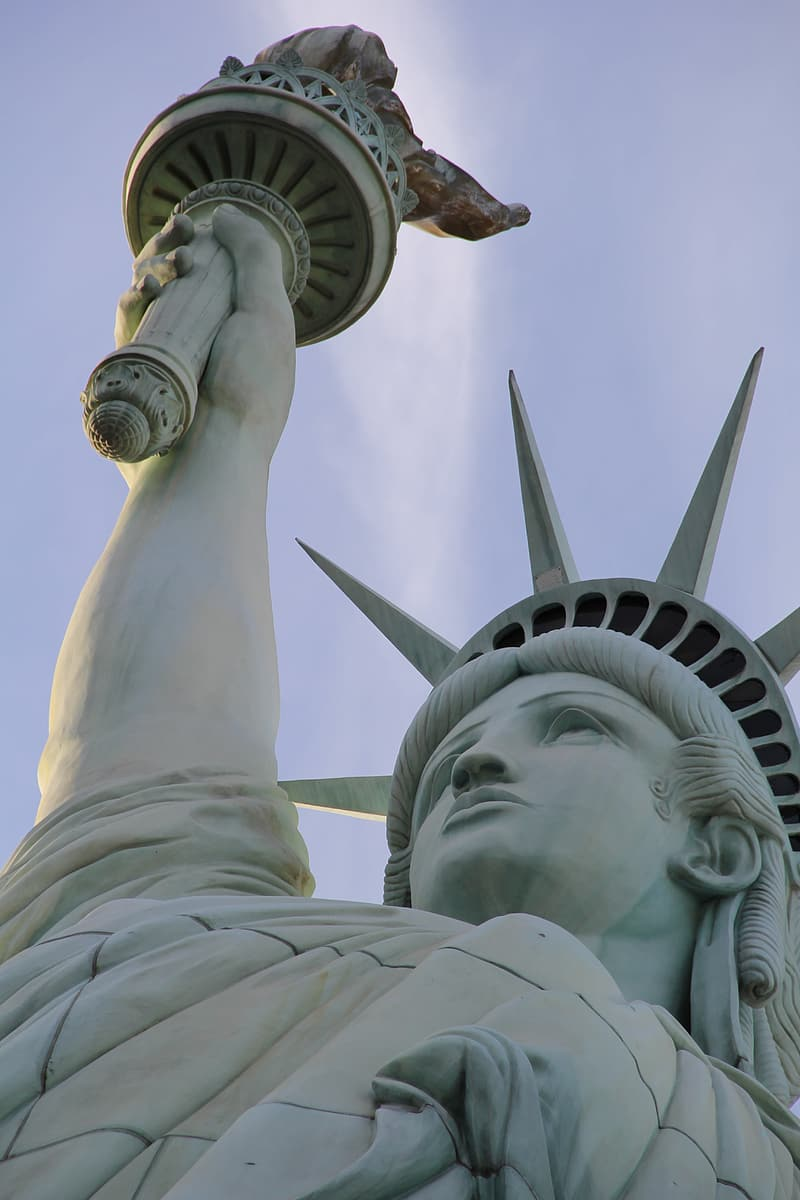 Low angle photography of Statue of Liberty