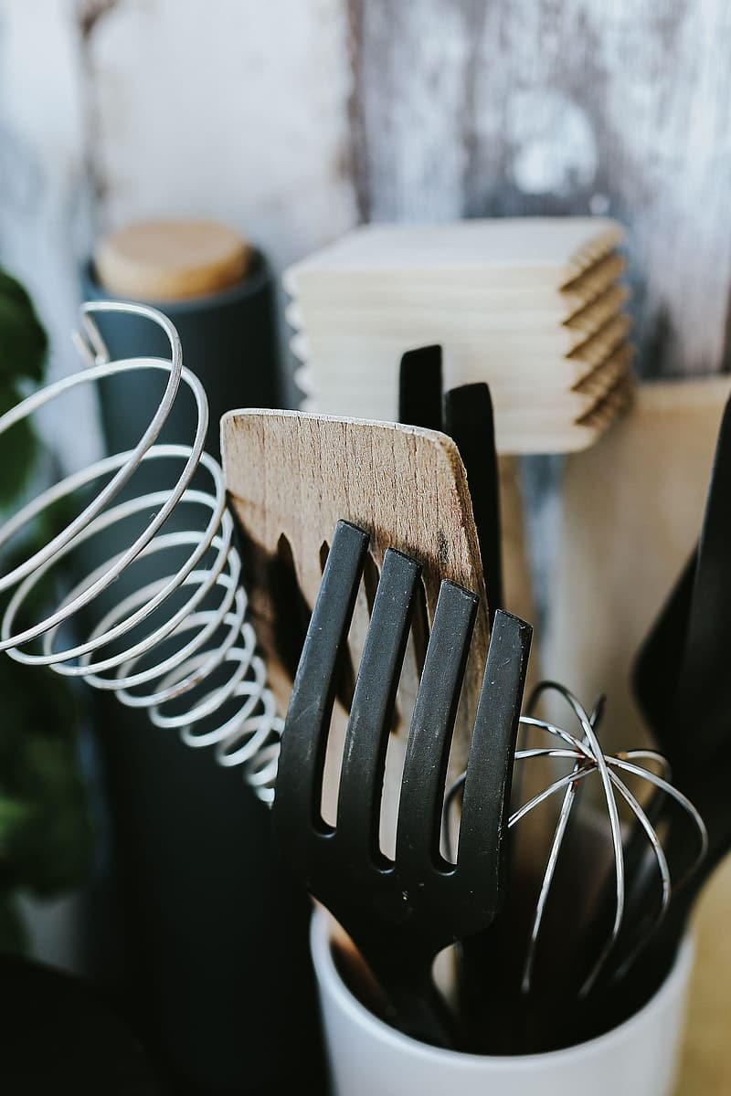 Stainless steel fork and bread knife