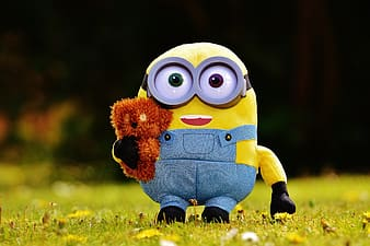 Selective focus photography of Despicable Me Minion plush toy