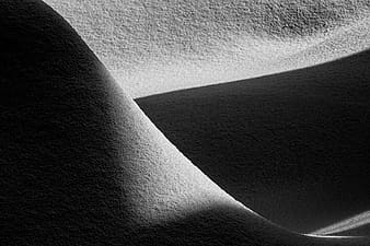 Gray scale photo of sand