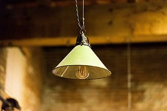 Green pendant ceiling lamp