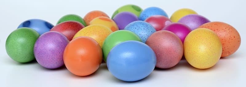 Assorted-color easter eggs