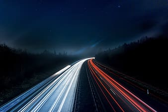 Long exposure photography of traffic