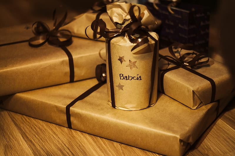 Gift boxes on table