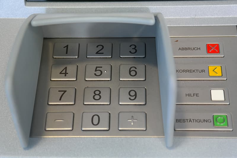 ATM buttons
