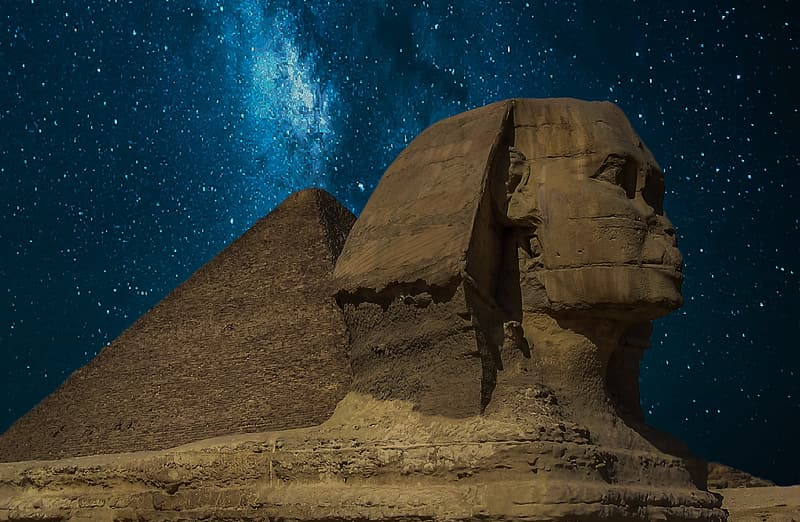 Sphinx and Pyramid, Cairo