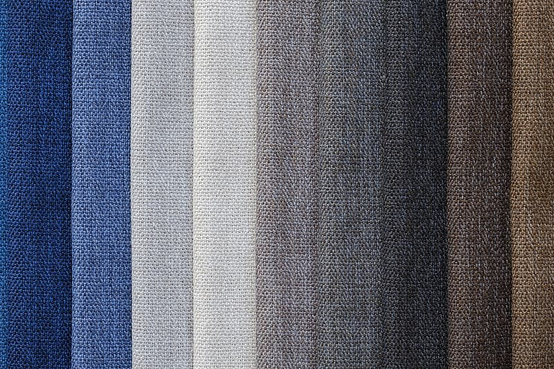Gray, white, and blue textile