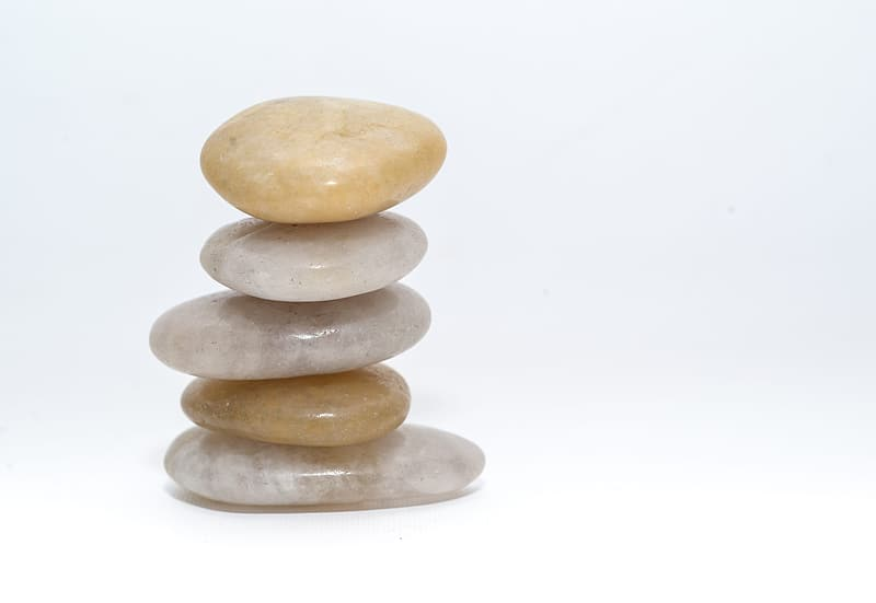 Brown and gray 3 layer stack of stones