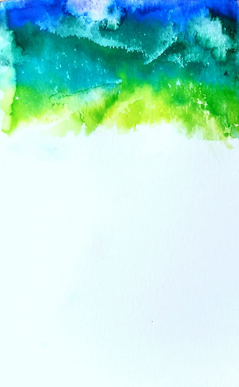 Green, blue, and teal abstract painting
