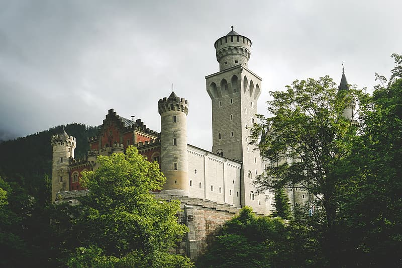White and brown concrete castle photography