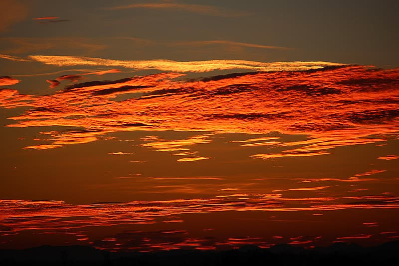 Photography of clouds during sunset