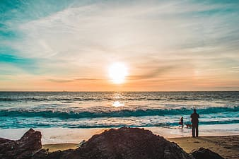 Photography of sunrise at beach