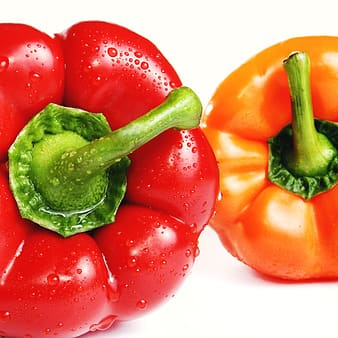 Red and orange pepper