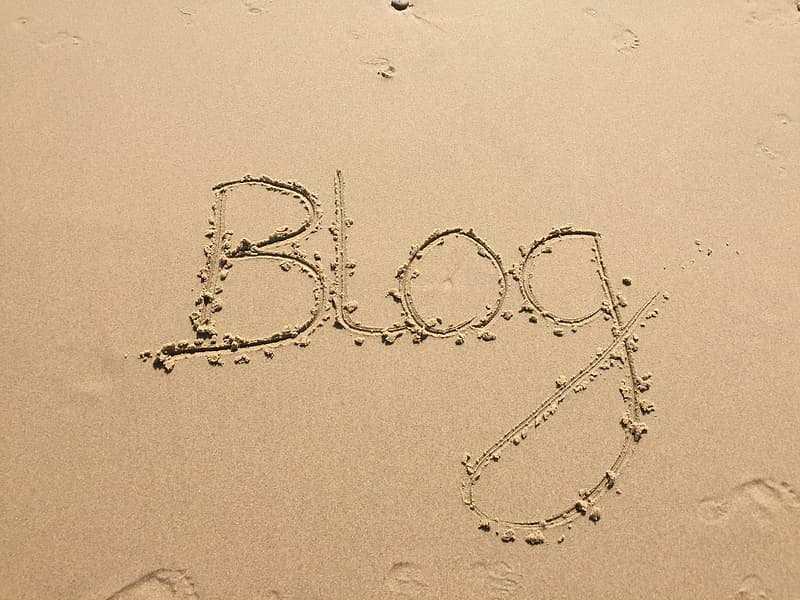 Photo of blog on seashore