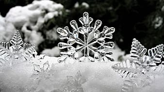 Clear glass snow flakes decorations