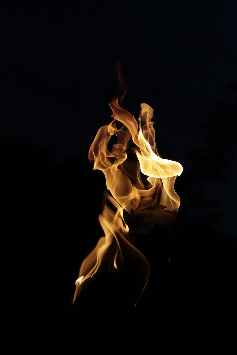 Time lapse photography of yellow fire