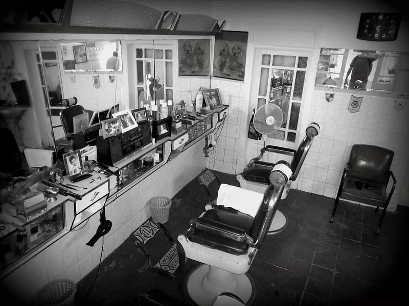 Two barbers chairs