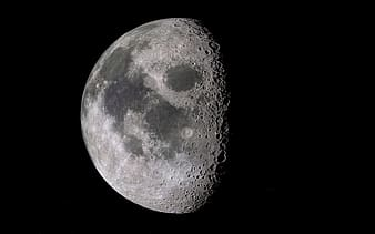Moon photography with black background