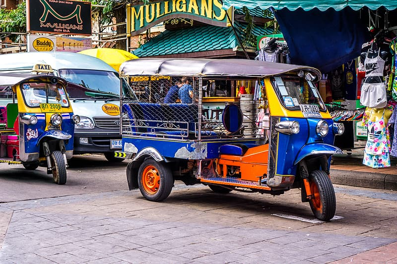 Auto rickshaw on road