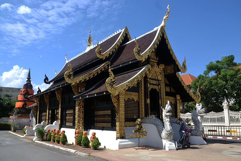 Photo of brown and white temple