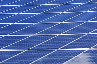 Blue and white solar panel