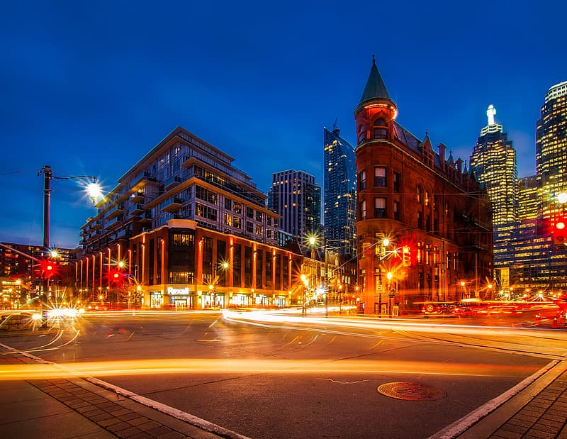 Time lapse photography of cityscape